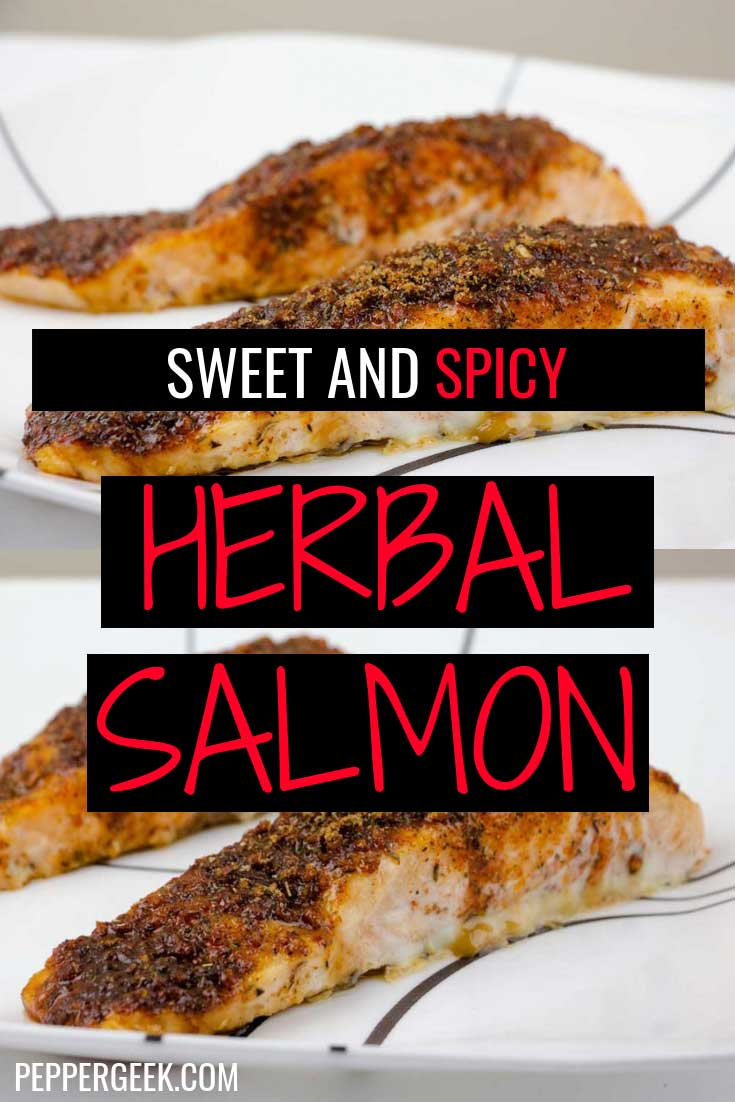 Sweet and Spicy Herbal Salmon