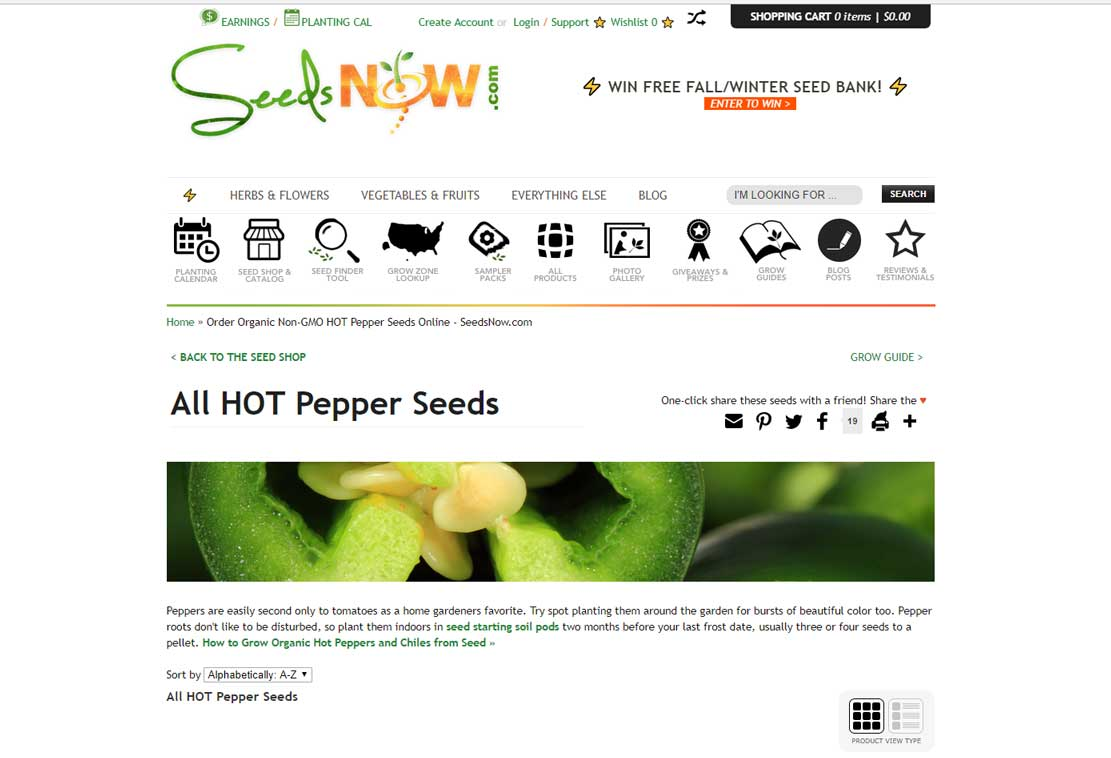SeedsNow Website