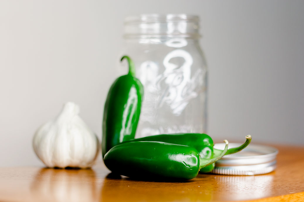 Whole Jalapenos and Jar