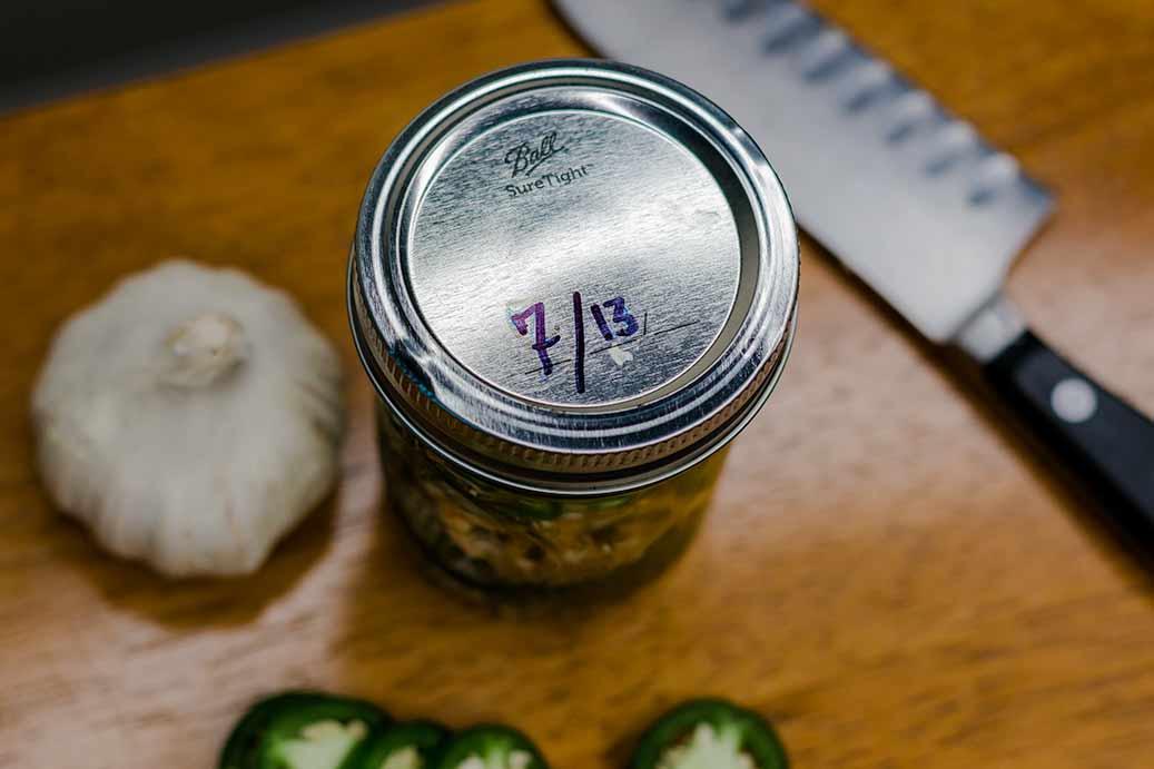 Labeled Pickle Jar