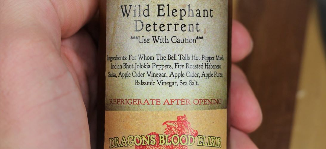 Wild Elephant Deterrent Ingredients