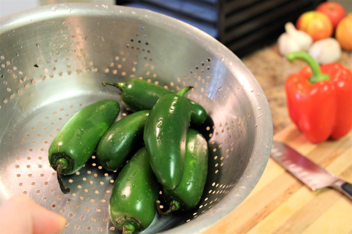 Washing Jalapenos