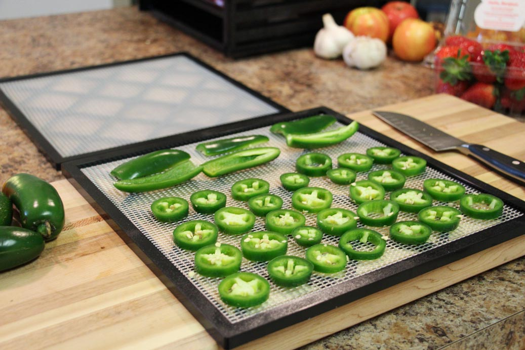 Dehydrating Jalapeno Peppers