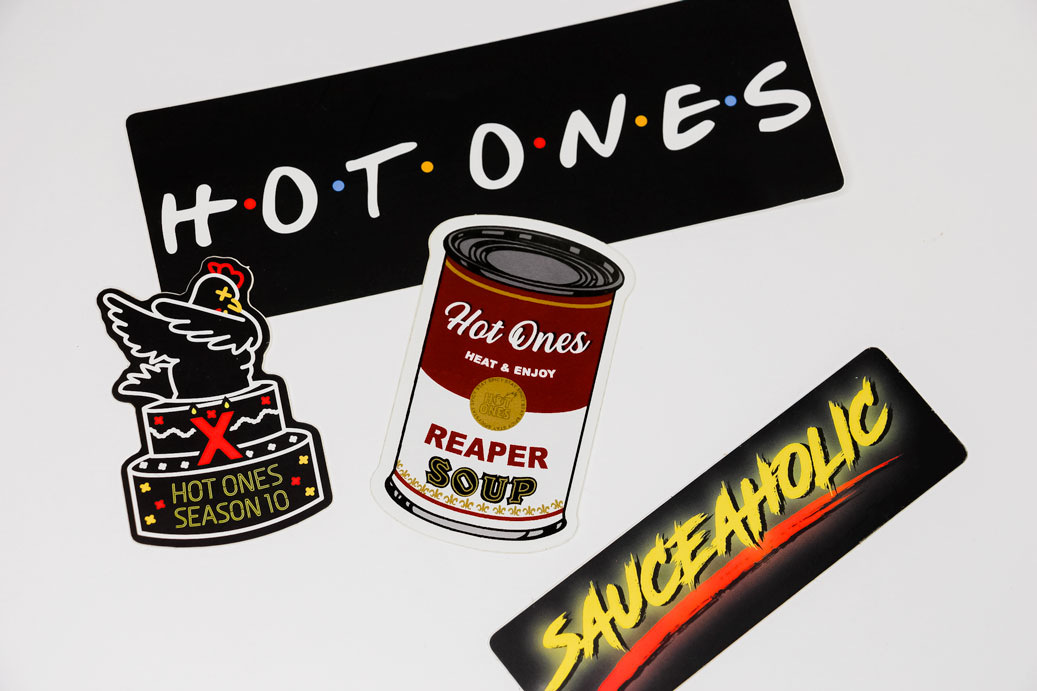 Hot Ones Box Stickers