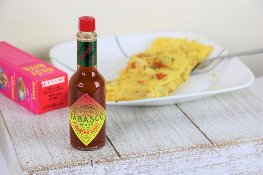 Tabasco Habanero Sauce on Eggs