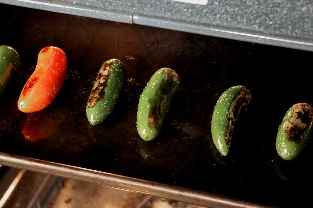 Roasting Jalapeno Peppers