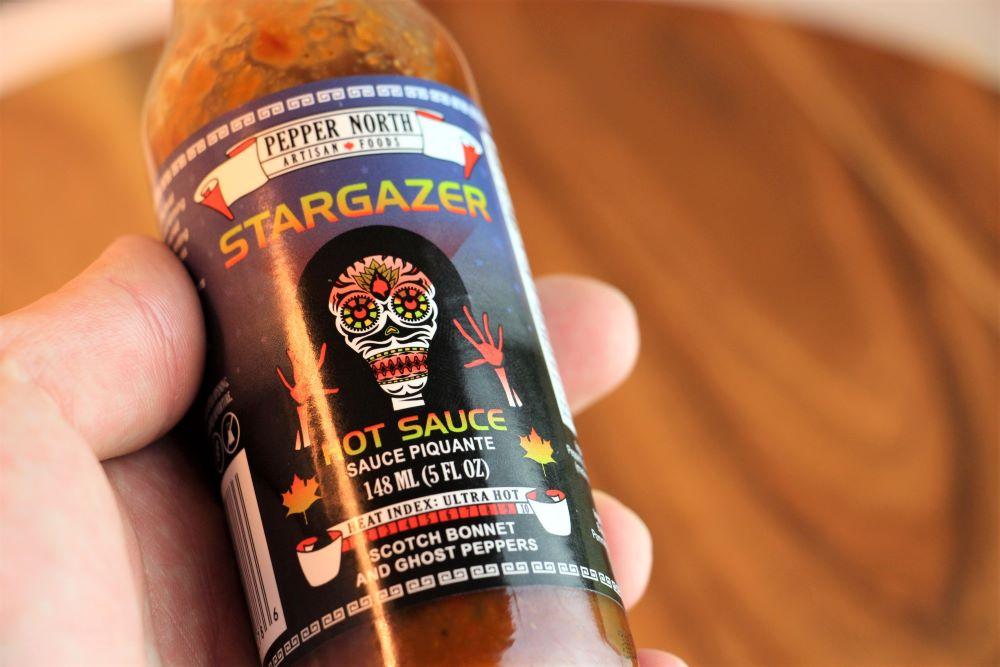 Pepper North Stargazer Hot Sauce Label