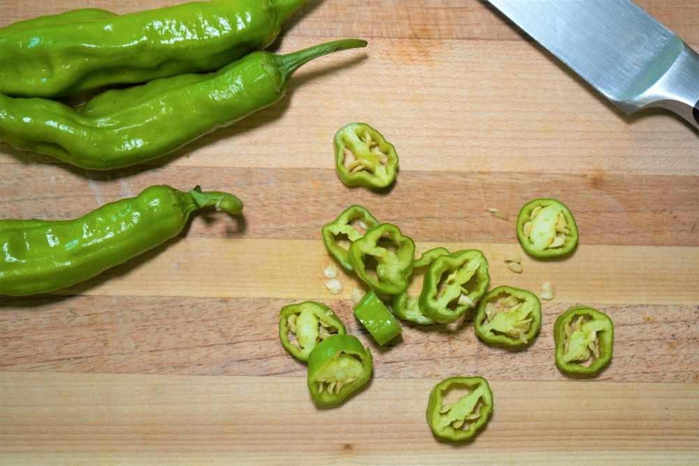 Sliced Shishito Peppers