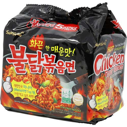 Hot chicken ramen noodles