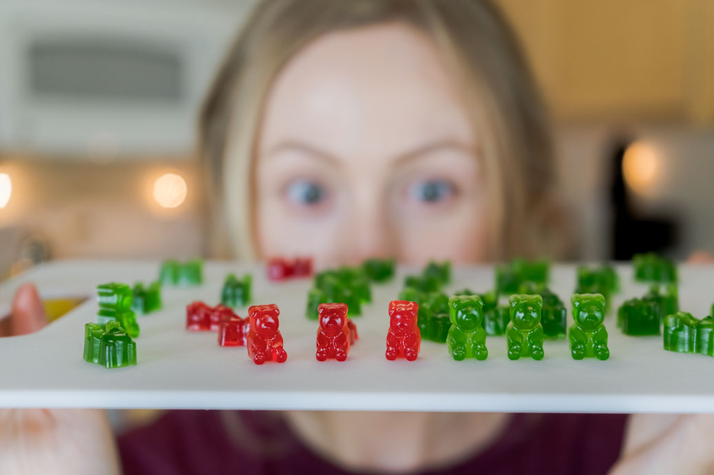 Homemade Spicy Gummy Bears