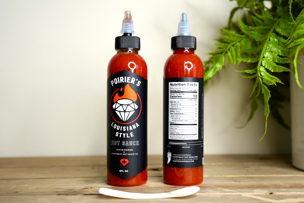 Poiriers Hot Sauce Bottles