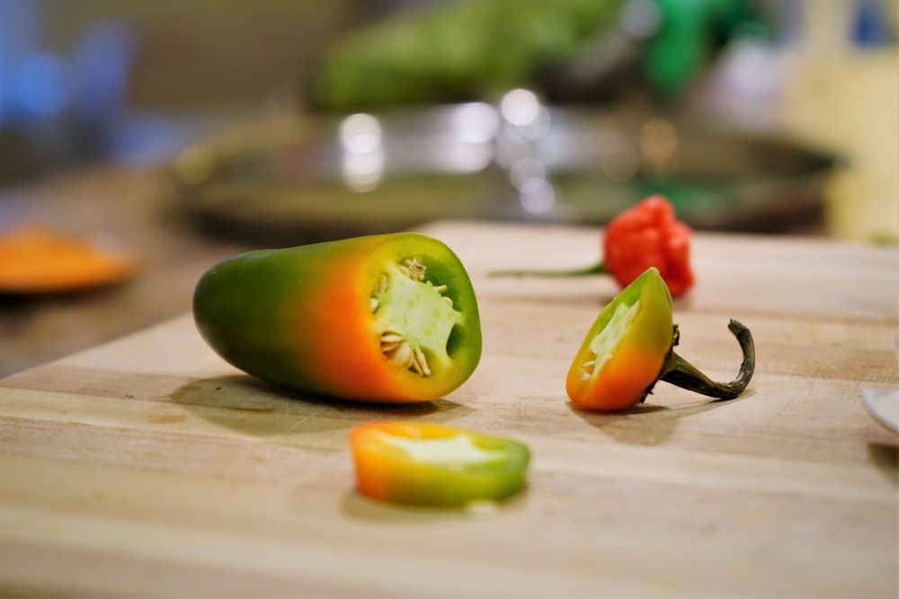 Jalapeno Pepper half ripe
