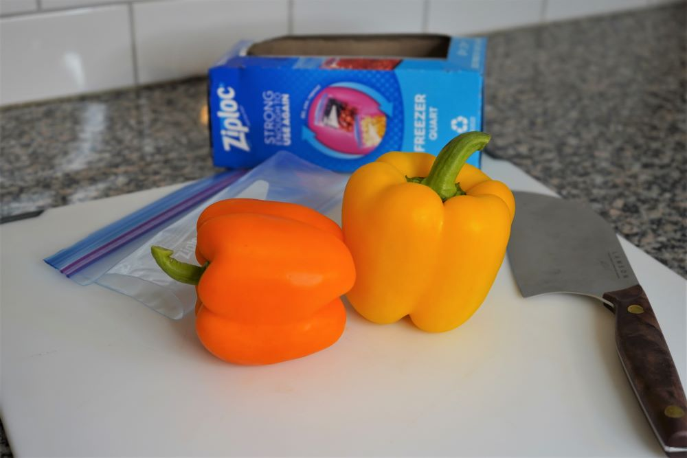 Freezing bell peppers